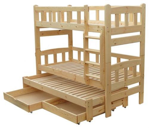 Dřevěná patrová postel z masivu Niagara chalup