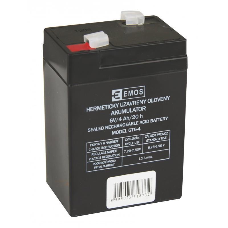 Bezúdržbový olověný akumulátor 6V/4Ah pro svítilny 3810