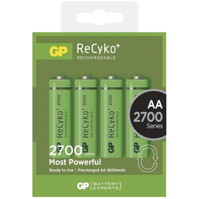 Nabíjecí baterie GP ReCyko+ 2700 HR6 (AA), krabička