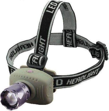 Svítilna LED 3W, čelovka model 6101, napájení 3xAAA