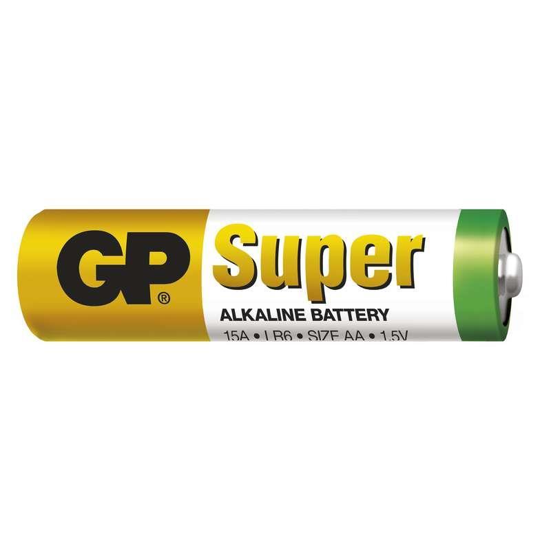 Baterie GP LR6 SUPER ALKALINE (tužka, AA) 1,5V 2ks ve fólii