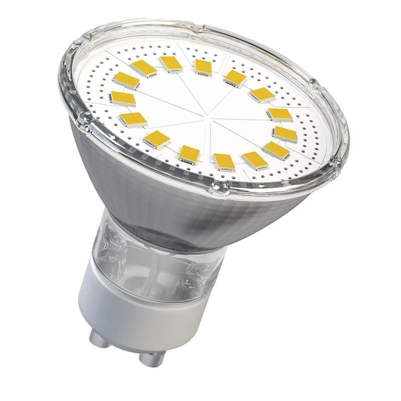 LED žárovka GU10 4W Dichroická 15 LED SMD 2835  teplá bílá
