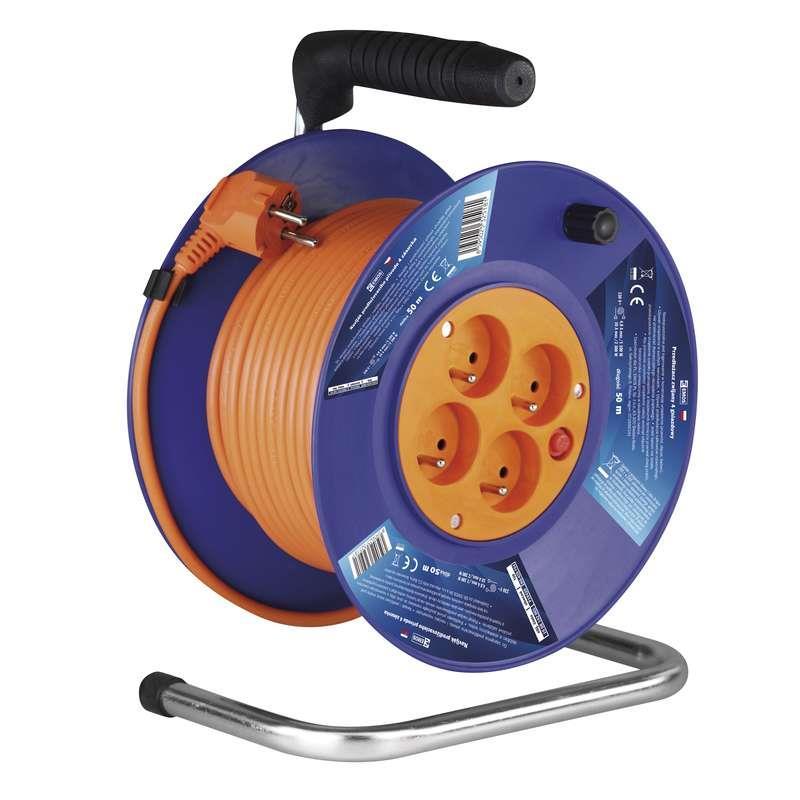 Kabel prodlužovací 50m - 4 zásuvky na bubnu