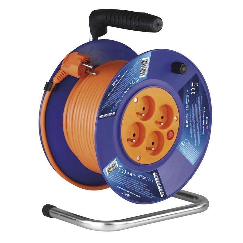 Kabel prodlužovací 25m - 4 zásuvky na bubnu