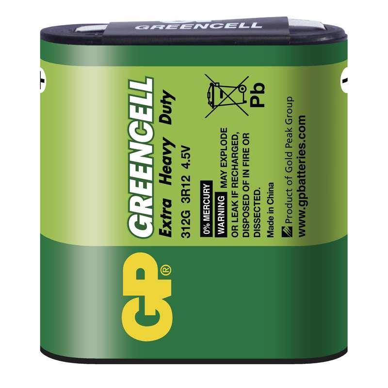 Baterie GP 3R12 GREENCELL (plochá bat.) 4,5V 1ks ve fólii