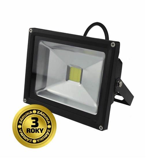 LED venkovní reflektor, 20W, 1500lm, AC 230V, černý