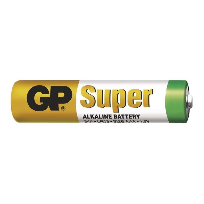 Baterie GP LR03 SUPER ALKALINE (mikrotužka, AAA) 1,5V 2ks ve fólii