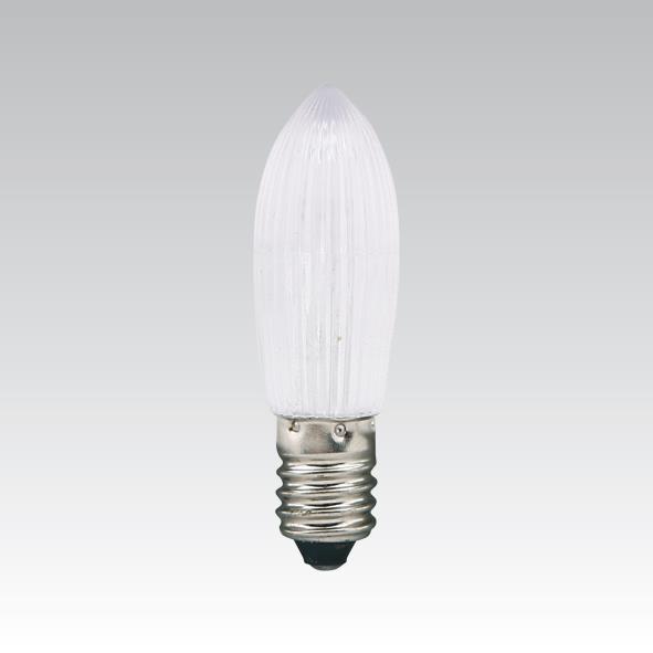 LED žárovka 14-55V E10 BÍLÁ  pro vánoční svícen