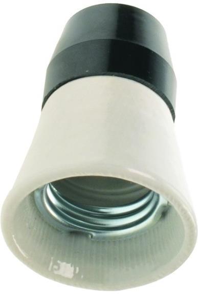 Objímka E27 na žárovku, keramika-plast